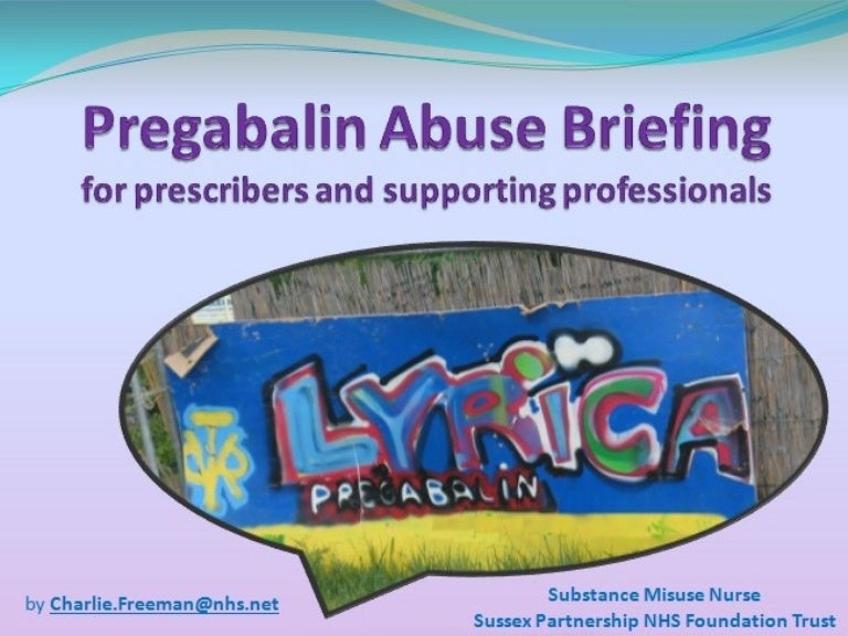 pregabalin abuse nhs